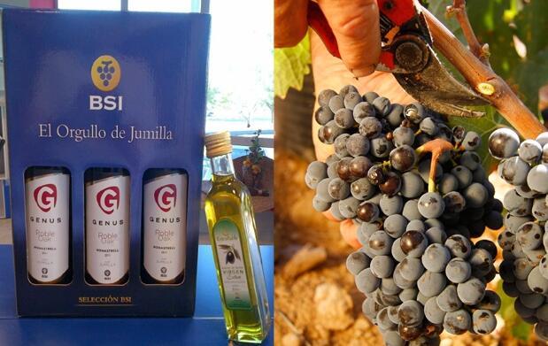 3 botellas vino Genus Roble y aceite