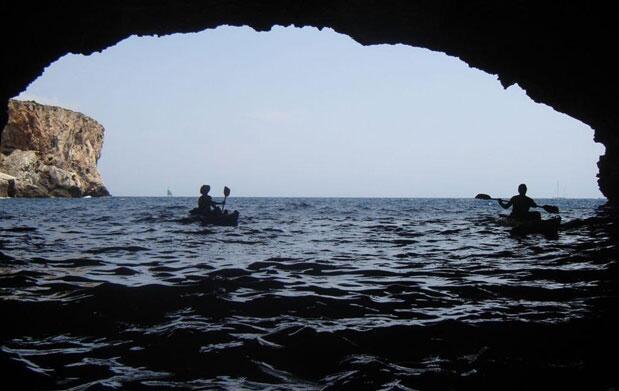 4 horas en kayak + buceo + cueva