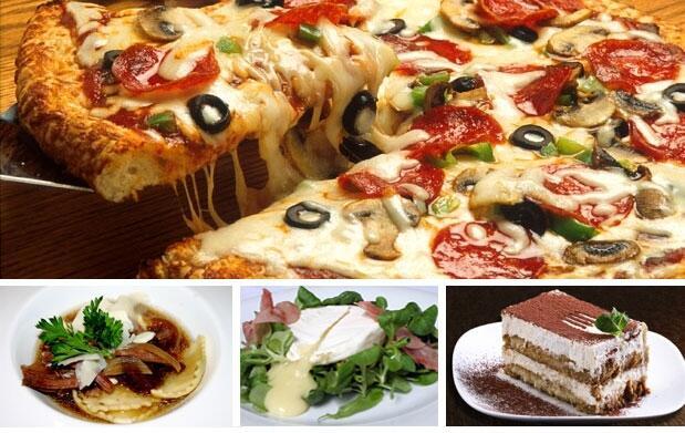 Auténtico menú italiano para dos