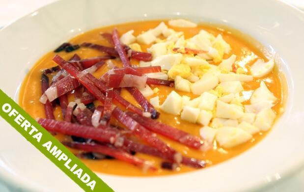 Menú tradicional en La Parranda Pequeña