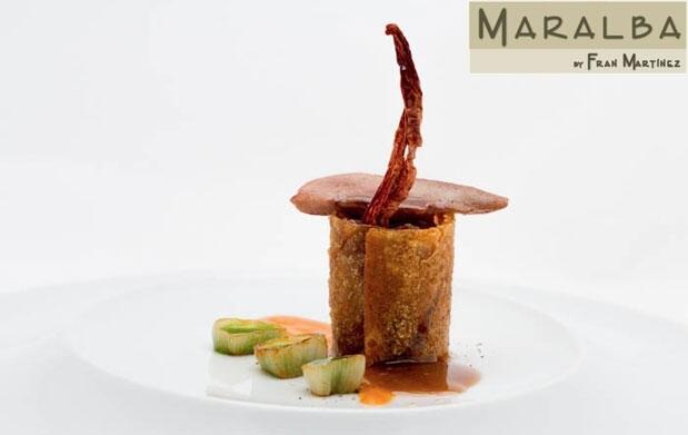 Menú Estrella Michelin Maralba en MG