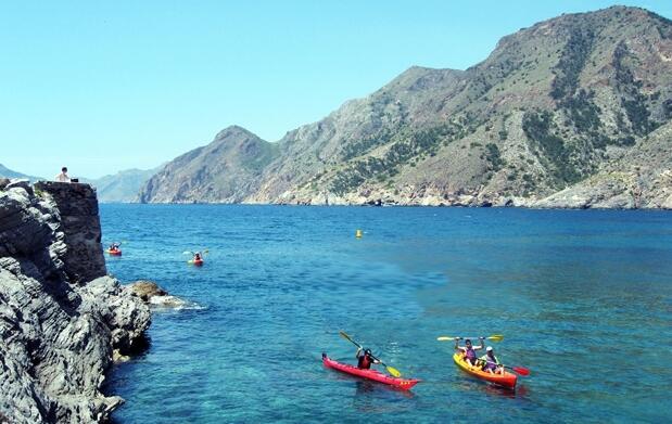Curso 4 horas de kayak en El Portús