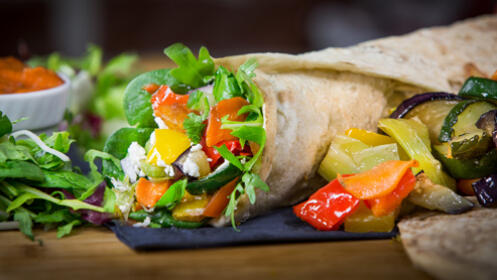 Cena a la carta en vegetariano Maná