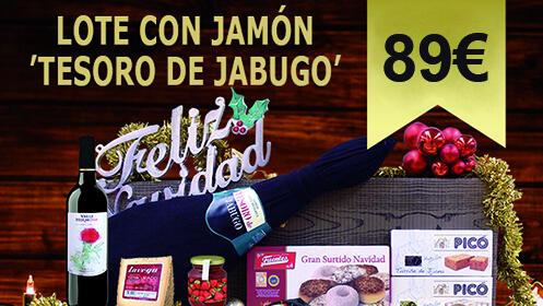 Lote navideño con jamón Tesoro de Jabugo