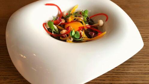 Menú degustación 11 platos con maridaje en Pecado Gastrobar