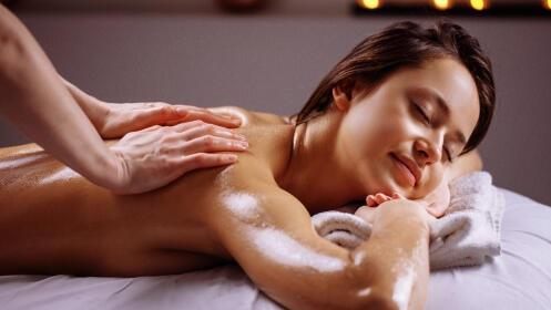 Masaje completo 1 h con aceites relajantes y sesión de presoterapia