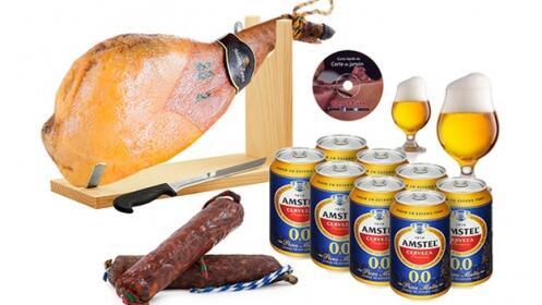 Paleta serrana + 8 latas + salchichón + chorizo + regalos