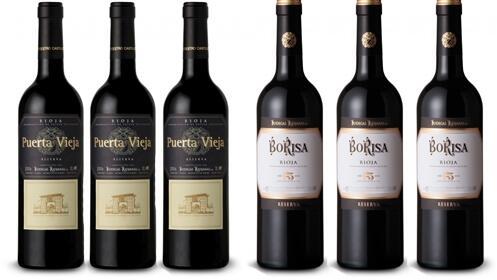 3 botellas BORISA RESERVA 125 ANIVERSARIO + 3 botellas PUERTA VIEJA RESERVA