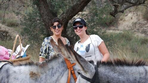 Senderismo con burros para dos: almuerzo y norias
