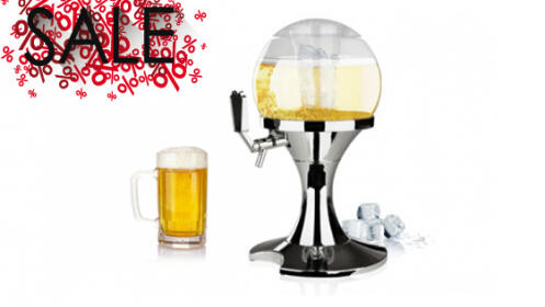 Dispensador de cerveza en forma de bola