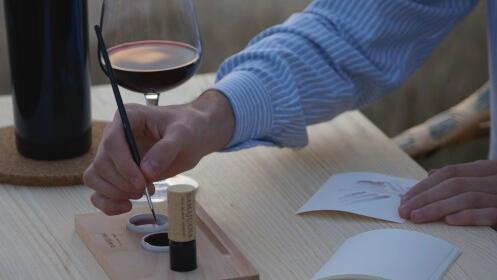 Visita y taller de pintura con tinta de vino Monastrell