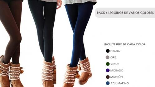 Pack 6 Leggings de Invierno