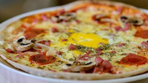 Mercado del Sol: menú 'pizza y hamburguesa' para dos