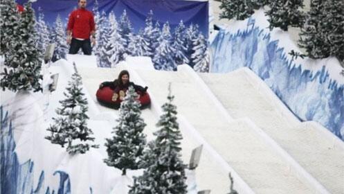 Patinaje sobre hielo, bajadas en trineo y bosque navideño de aventura